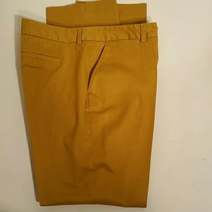 NWOT.  Land's End Mustard Gold Pant. 16